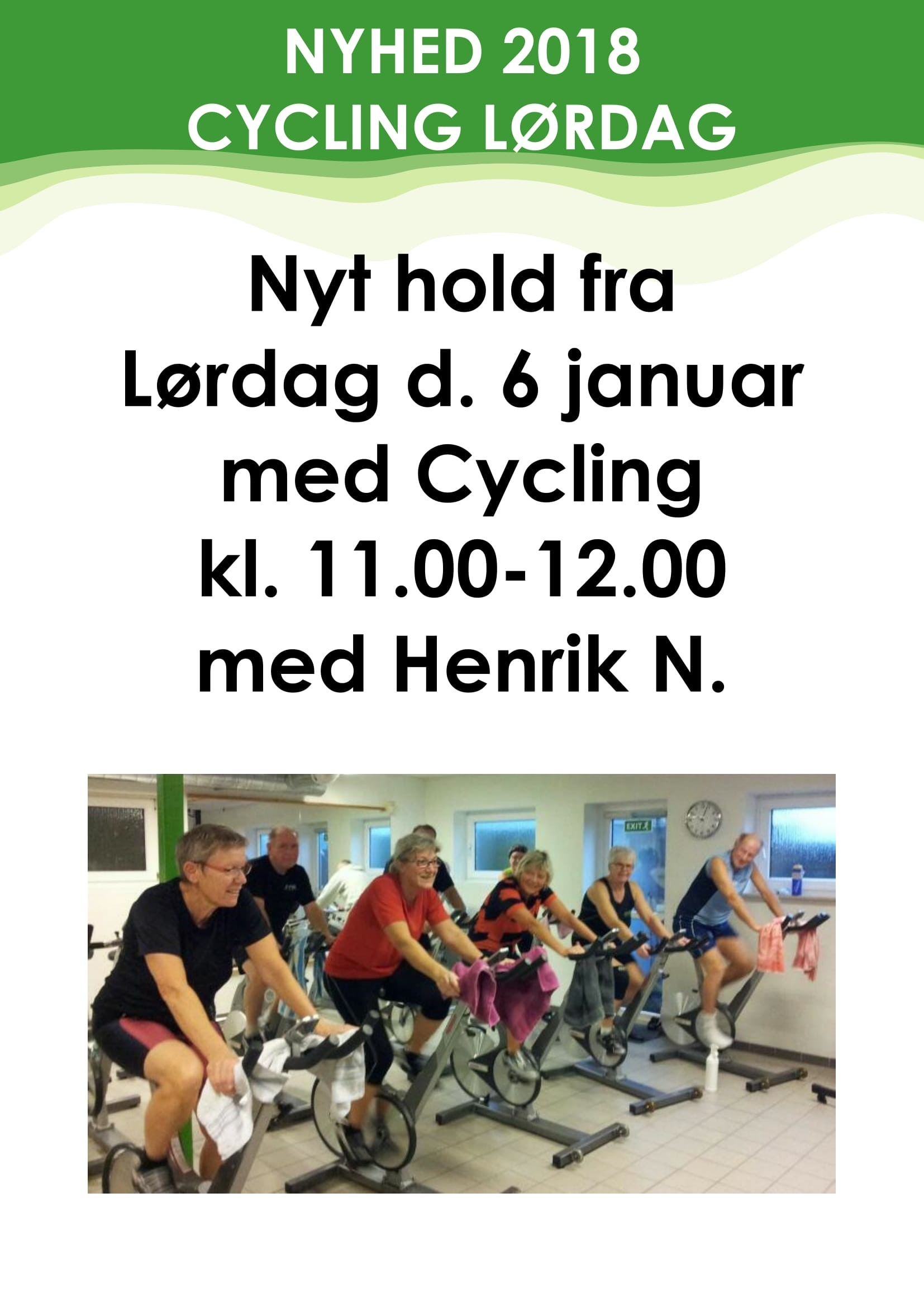 Cycling Lørdag start d. 6 januar